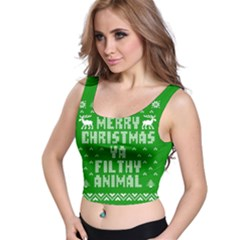 Ugly Christmas Ya Filthy Animal Crop Top by Onesevenart