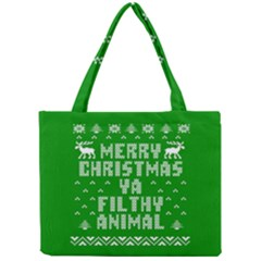 Ugly Christmas Ya Filthy Animal Mini Tote Bag by Onesevenart