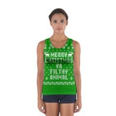 Ugly Christmas Ya Filthy Animal Women s Sport Tank Top  by Onesevenart