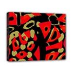Red artistic design Canvas 10  x 8