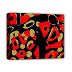 Red artistic design Deluxe Canvas 14  x 11