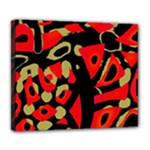 Red artistic design Deluxe Canvas 24  x 20