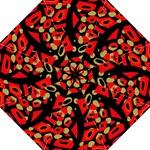 Red artistic design Hook Handle Umbrellas (Large)