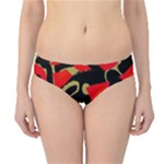 Red artistic design Hipster Bikini Bottoms