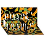 Abstract animal print Happy Birthday 3D Greeting Card (8x4)