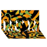 Abstract animal print MOM 3D Greeting Card (8x4)