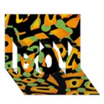 Abstract animal print BOY 3D Greeting Card (7x5)