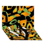 Abstract animal print LOVE Bottom 3D Greeting Card (7x5)
