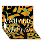 Abstract animal print YOU ARE INVITED 3D Greeting Card (7x5)