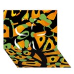Abstract animal print Clover 3D Greeting Card (7x5)