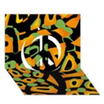 Abstract animal print Peace Sign 3D Greeting Card (7x5)
