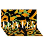 Abstract animal print BEST BRO 3D Greeting Card (8x4)
