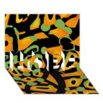 Abstract animal print HOPE 3D Greeting Card (7x5)