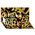 Abstract animal print Best Wish 3D Greeting Card (8x4)