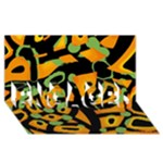Abstract animal print ENGAGED 3D Greeting Card (8x4)