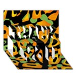 Abstract animal print THANK YOU 3D Greeting Card (7x5)