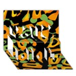 Abstract animal print You Did It 3D Greeting Card (7x5)