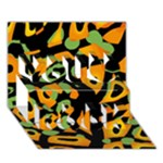 Abstract animal print You Rock 3D Greeting Card (7x5)