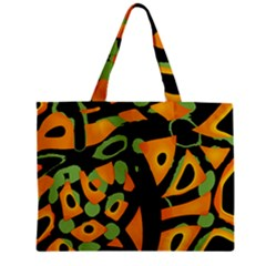 Abstract animal print Zipper Mini Tote Bag by Valentinaart