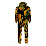 Abstract animal print Hooded Jumpsuit (Kids)