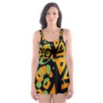 Abstract animal print Skater Dress Swimsuit