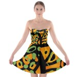 Abstract animal print Strapless Bra Top Dress