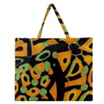 Abstract animal print Zipper Large Tote Bag