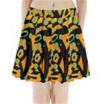 Abstract animal print Pleated Mini Skirt