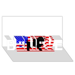 Australian Shepherd Silo Usa Flag BELIEVE 3D Greeting Card (8x4) by TailWags