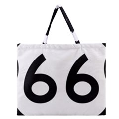 U S  Route 66 Zipper Large Tote Bag by abbeyz71