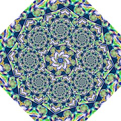 Power Spiral Polygon Blue Green White Straight Umbrellas by EDDArt