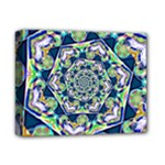 Power Spiral Polygon Blue Green White Deluxe Canvas 14  x 11