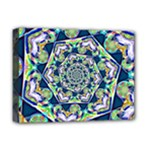 Power Spiral Polygon Blue Green White Deluxe Canvas 16  x 12