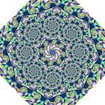 Power Spiral Polygon Blue Green White Golf Umbrellas