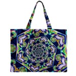 Power Spiral Polygon Blue Green White Zipper Mini Tote Bag