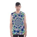 Power Spiral Polygon Blue Green White Men s Basketball Tank Top