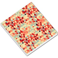 Modern Hipster Triangle Pattern Red Blue Beige Small Memo Pads by EDDArt