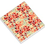 Modern Hipster Triangle Pattern Red Blue Beige Small Memo Pads