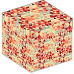 Modern Hipster Triangle Pattern Red Blue Beige Storage Stool 12