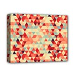 Modern Hipster Triangle Pattern Red Blue Beige Deluxe Canvas 14  x 11