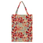 Modern Hipster Triangle Pattern Red Blue Beige Classic Tote Bag