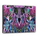Sly Dog Modern Grunge Style Blue Pink Violet Canvas 20  x 16