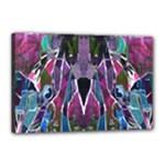 Sly Dog Modern Grunge Style Blue Pink Violet Canvas 18  x 12