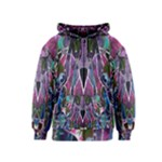 Sly Dog Modern Grunge Style Blue Pink Violet Kids  Zipper Hoodie