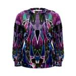 Sly Dog Modern Grunge Style Blue Pink Violet Women s Sweatshirt