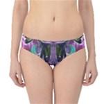 Sly Dog Modern Grunge Style Blue Pink Violet Hipster Bikini Bottoms