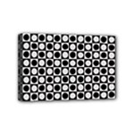 Modern Dots In Squares Mosaic Black White Mini Canvas 6  x 4