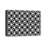 Modern Dots In Squares Mosaic Black White Mini Canvas 7  x 5
