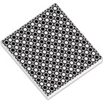 Modern Dots In Squares Mosaic Black White Small Memo Pads