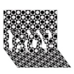 Modern Dots In Squares Mosaic Black White BOY 3D Greeting Card (7x5)